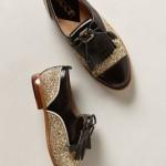 chausseurs avec glitter doré