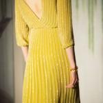robe jaune a sequins brille