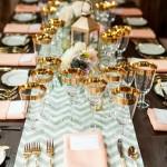 décoration table de nouvel an brille
